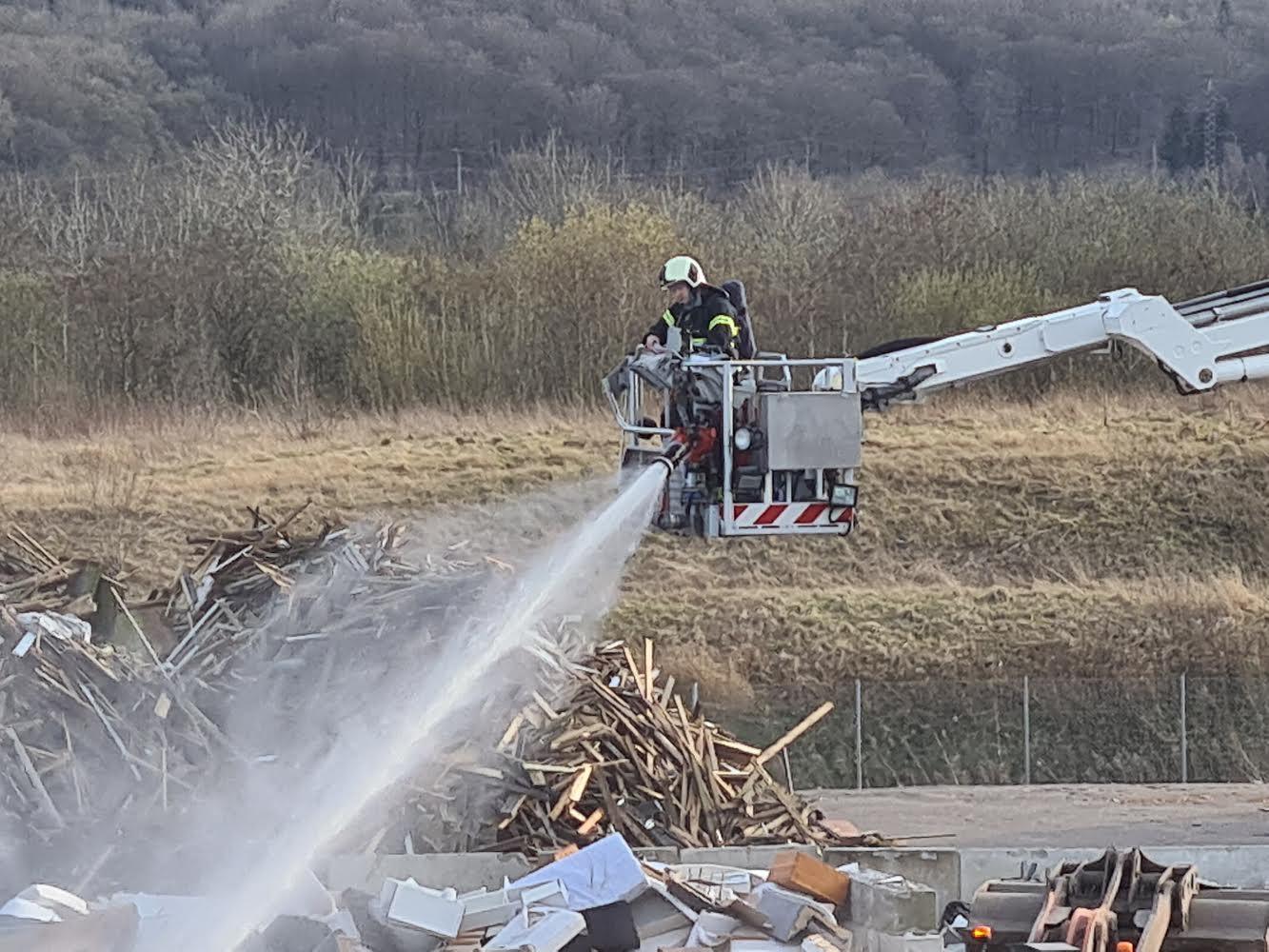 Brand på genbrugsplads i Vejle