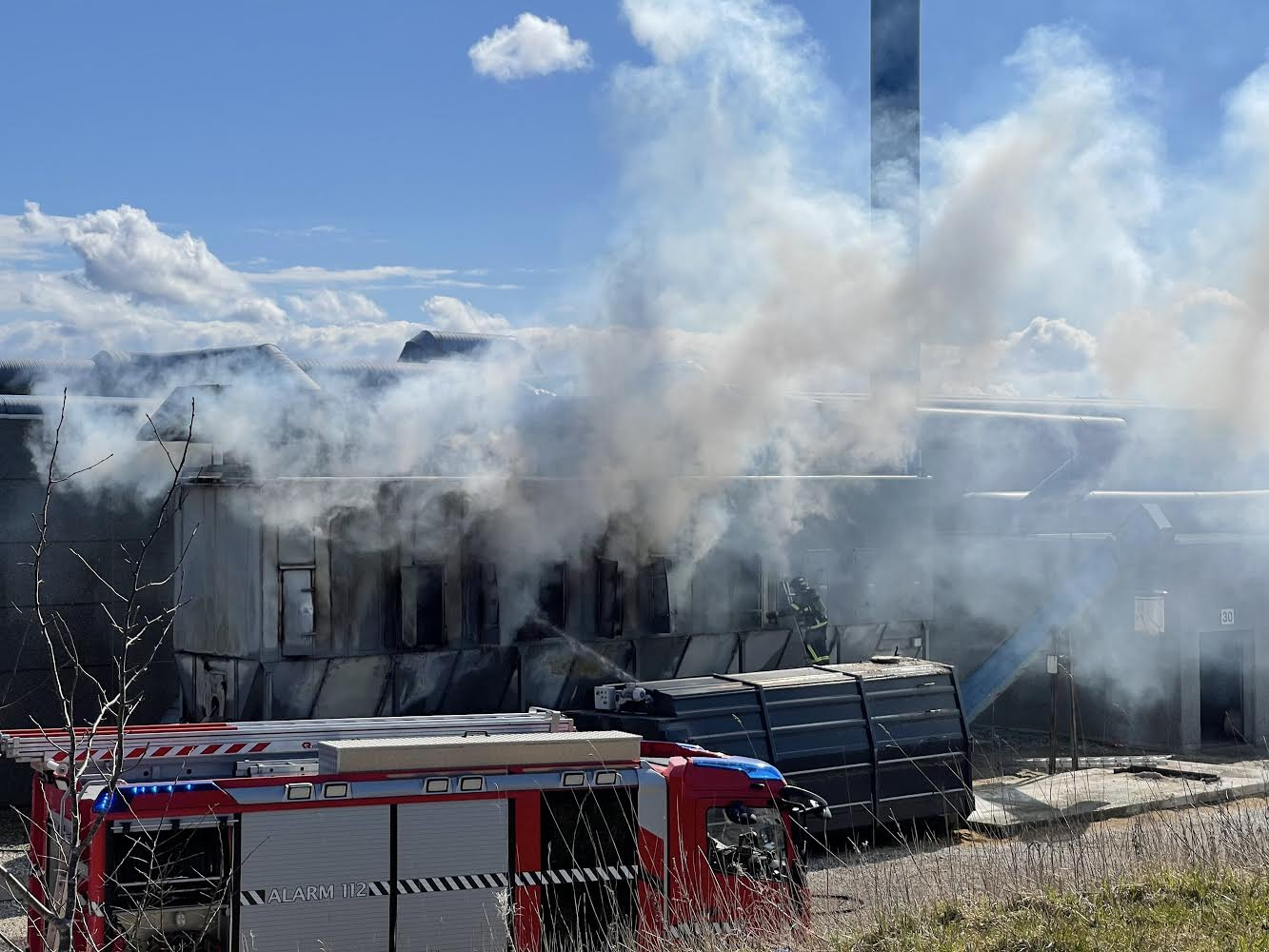 Brand i industribygning i Thisted