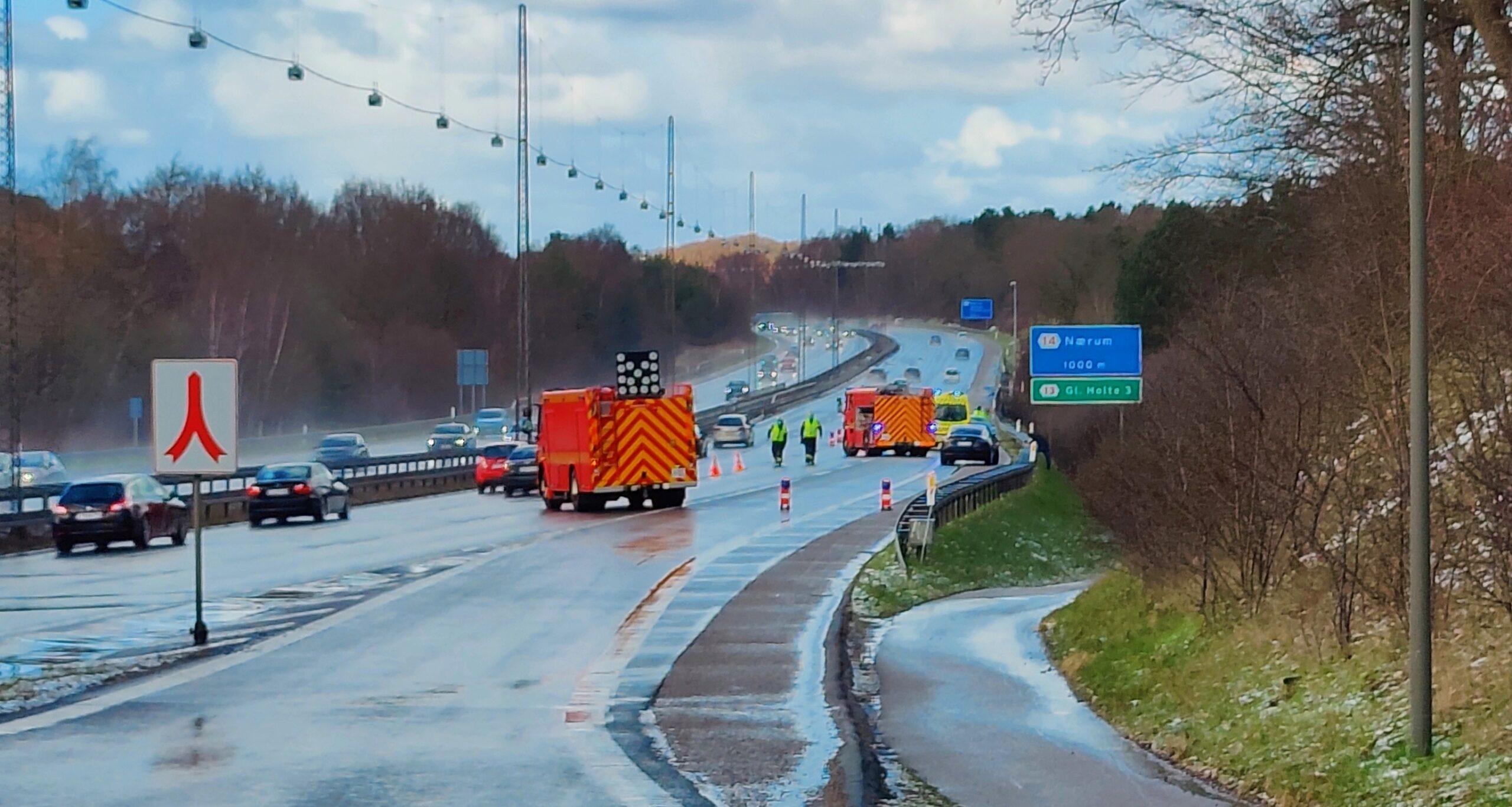 Færdselsuheld på Helsingørmotorvejen