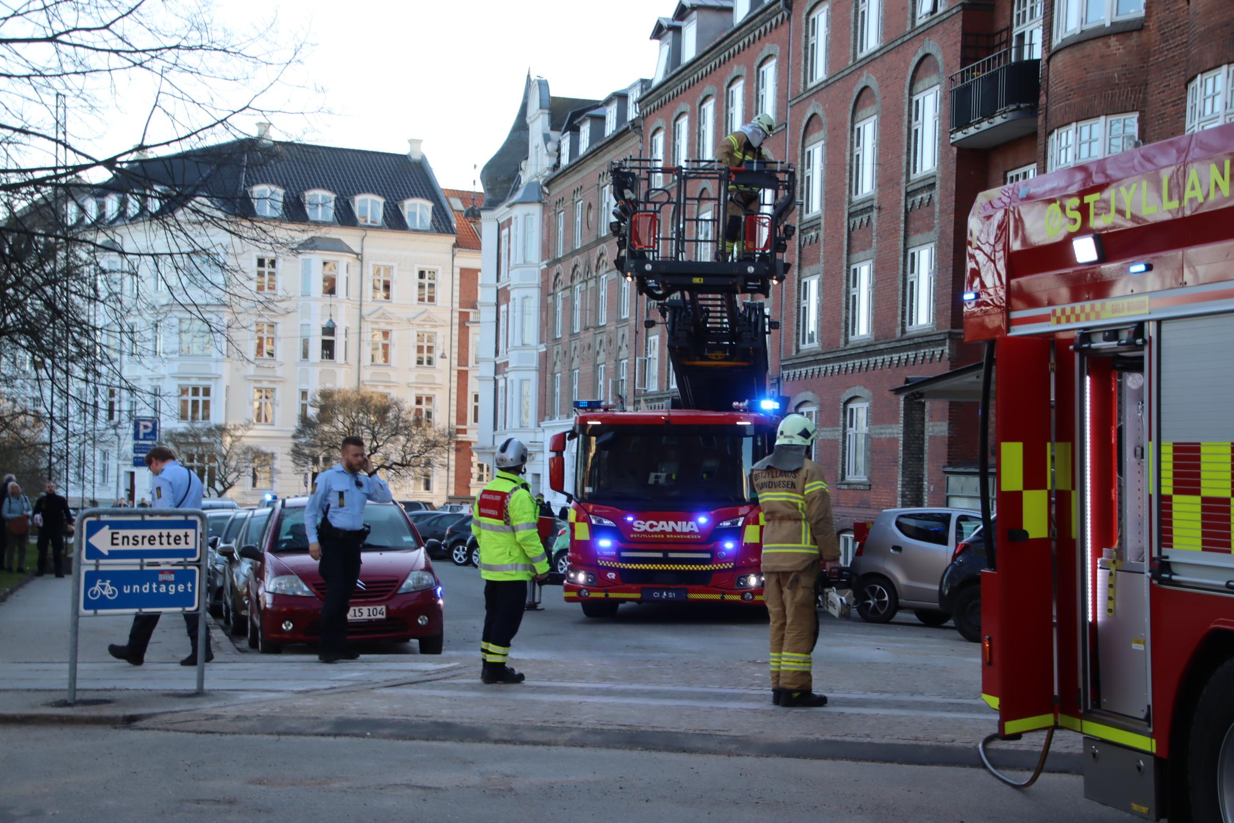 Brand på Marselisborg Allé i Aarhus C