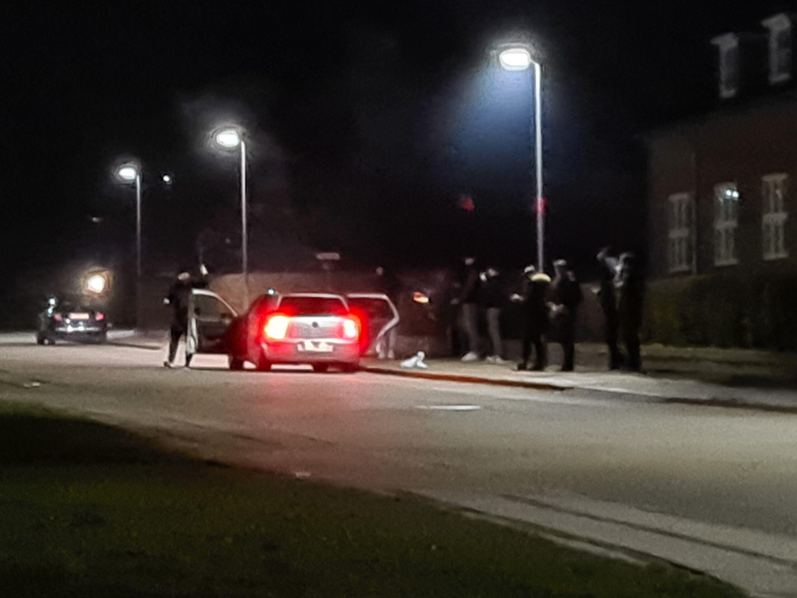 Fyrværkeri skudt ind over Kolding arrest