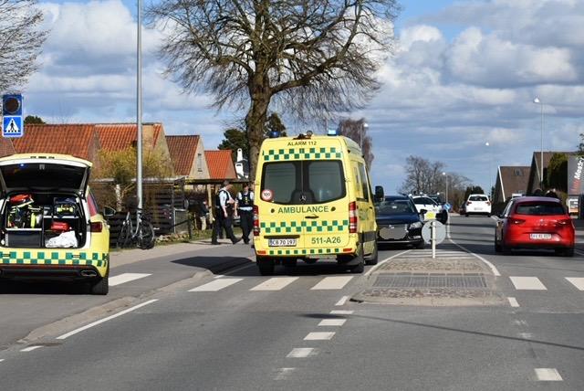 Cyklist påkørt i Helsingør - kvinde i kritisk tilstand