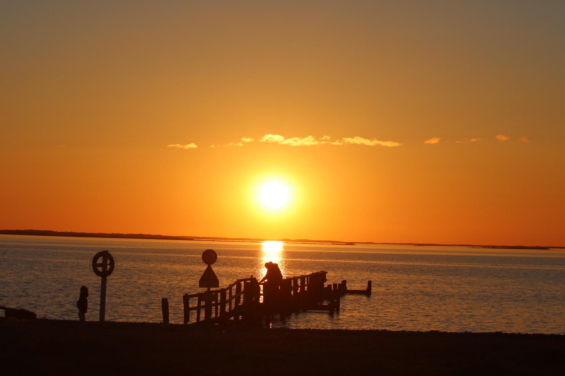 Solnedgang ved Assens - Sydfyn