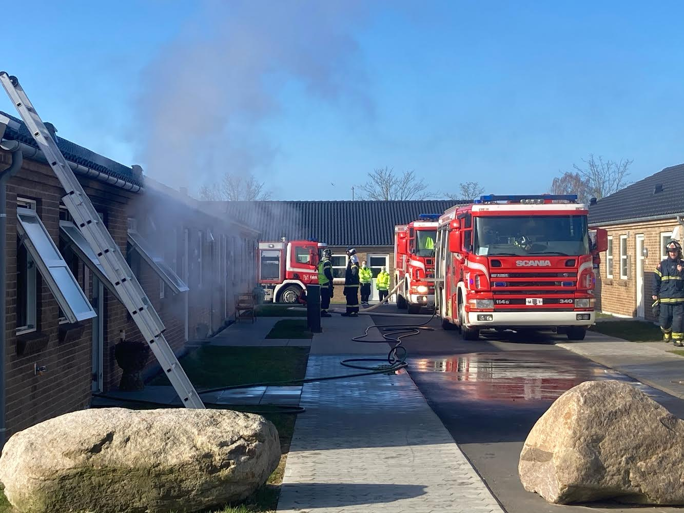 Rækkehusbrand i Rønne