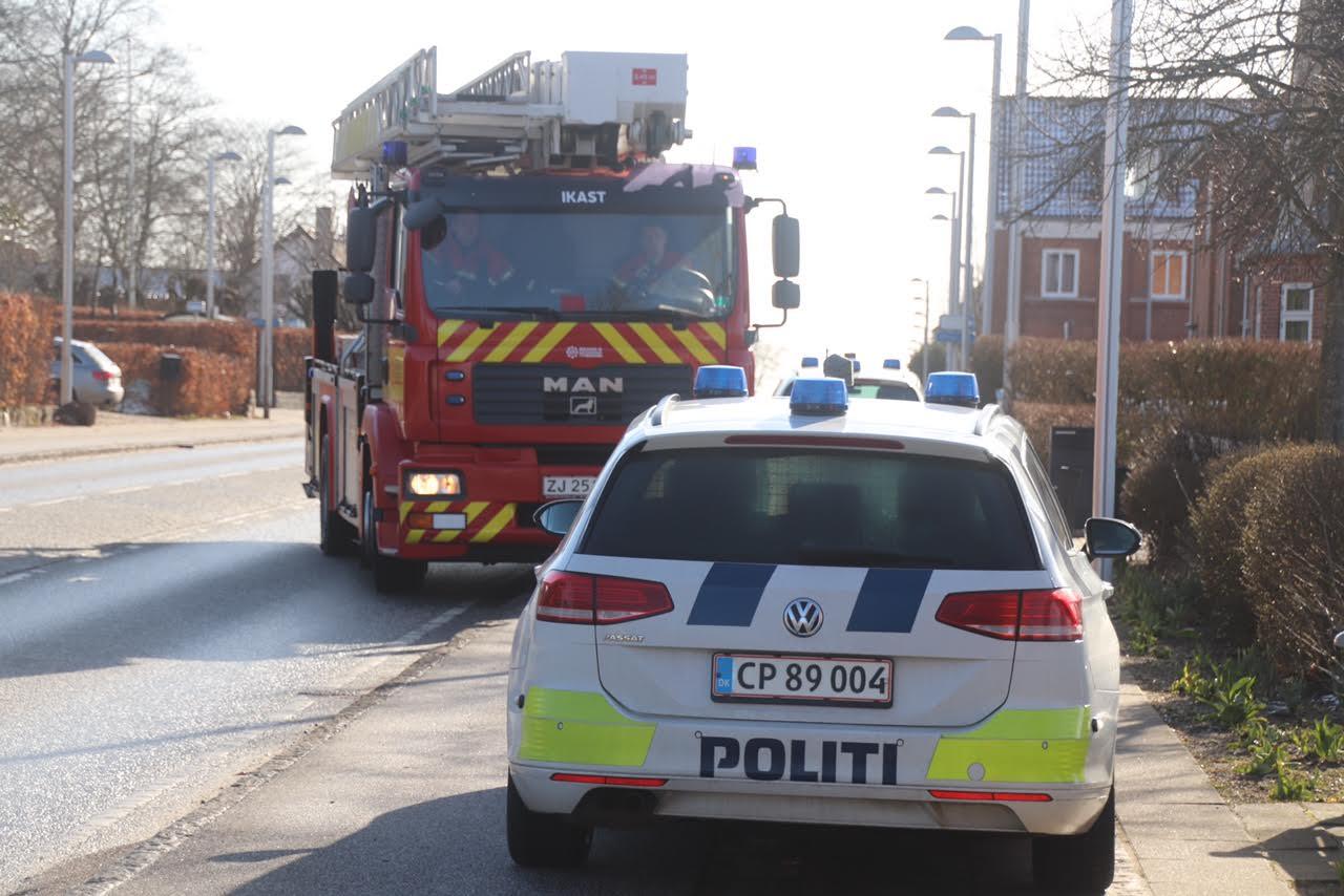 Bygningsbrand i Hammerum