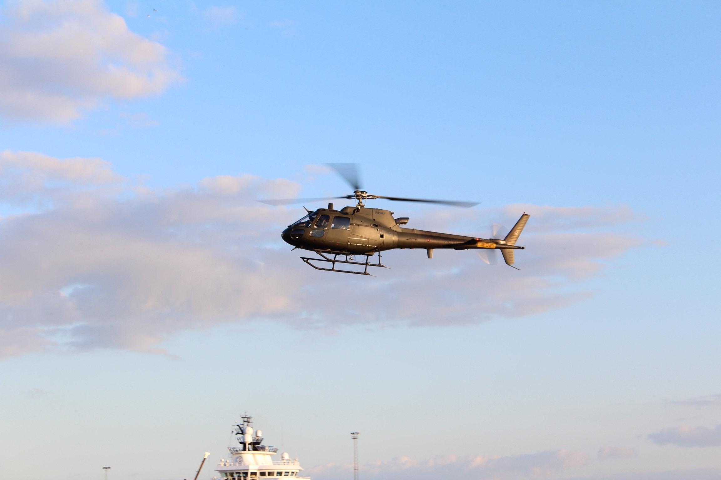 Militær øvelse på Esbjerg havn