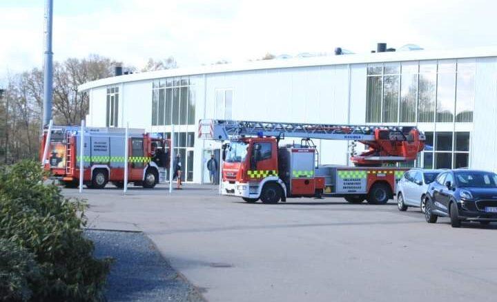 Brandalarm på Helsingør Stadion