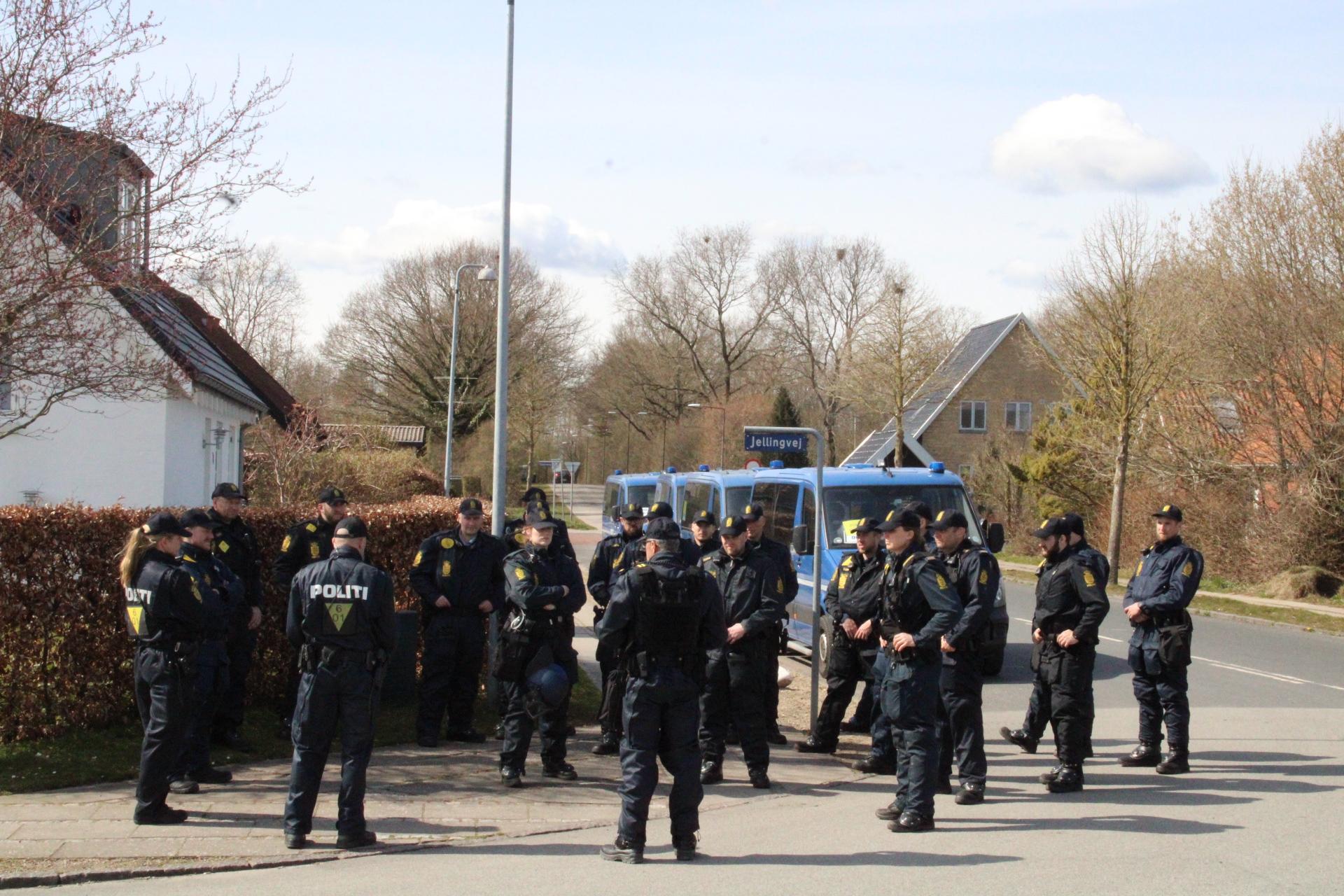 Stor politi-øvelse  i Odense