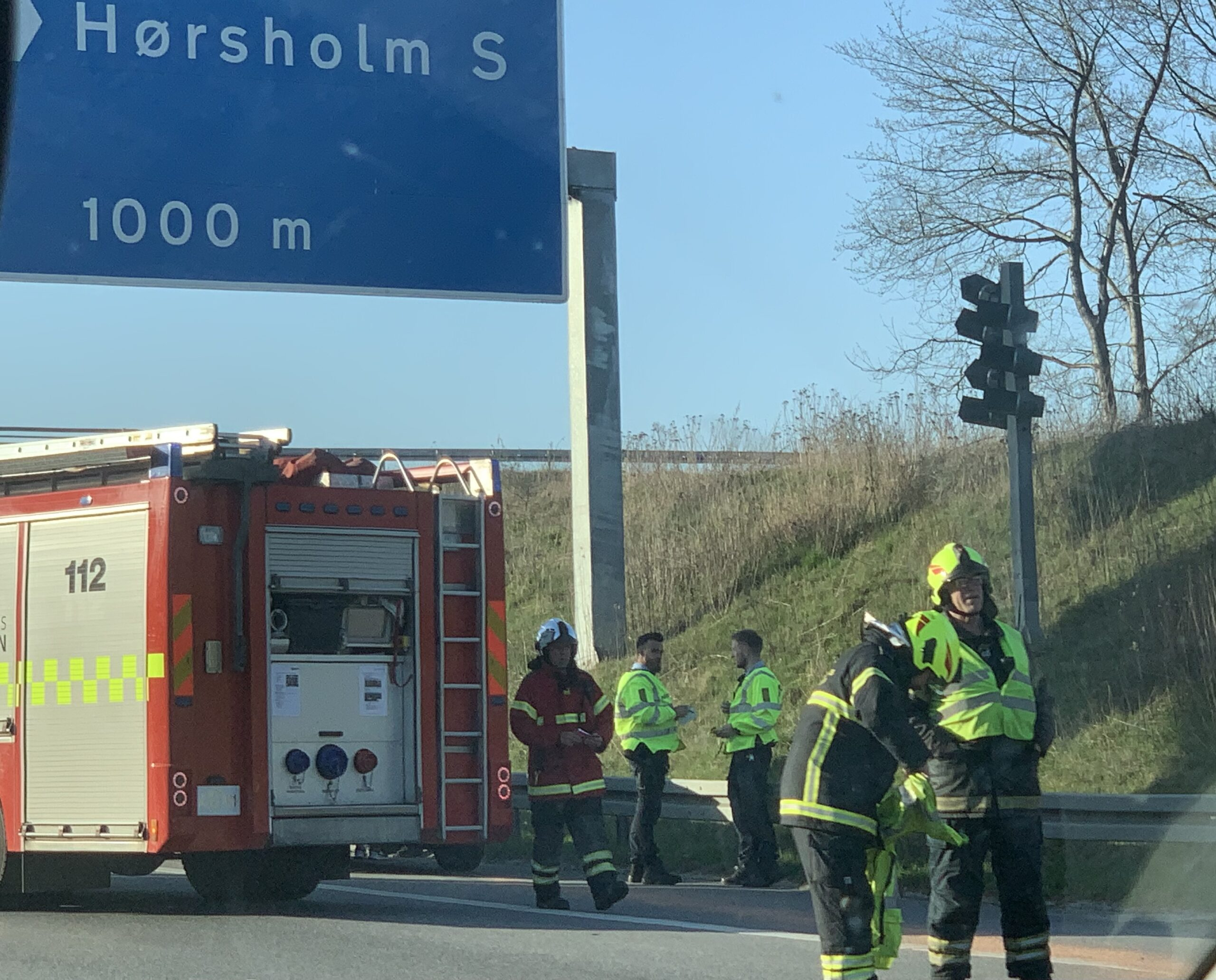 Færdselsuheld på Helsingør motorvejen