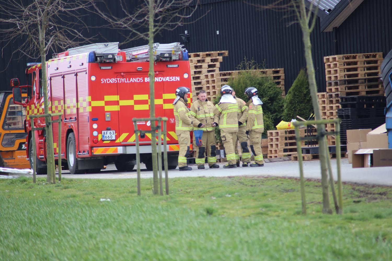 Melding om bygningsbrand i Hedensted
