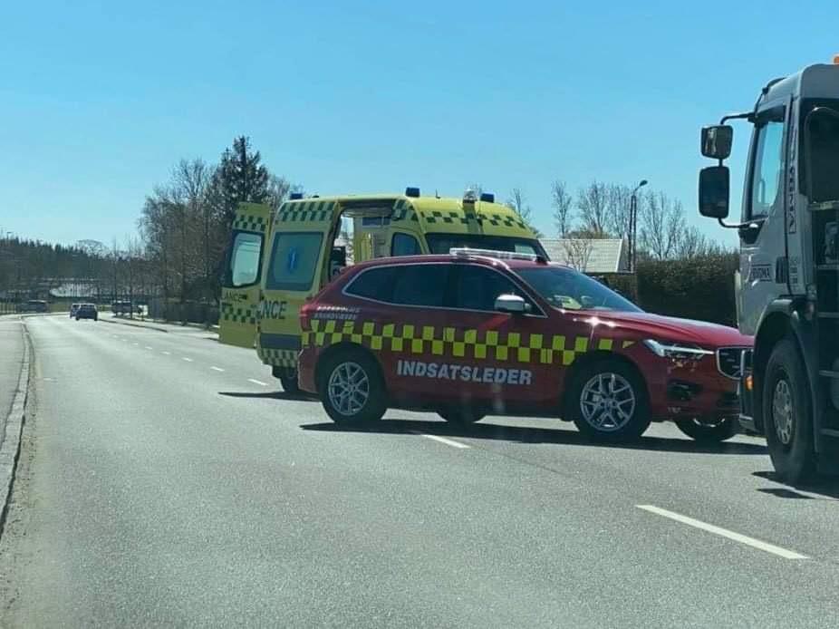 Færdselsuheld i Rønne - uheld mellem lastbil og handicapscooter