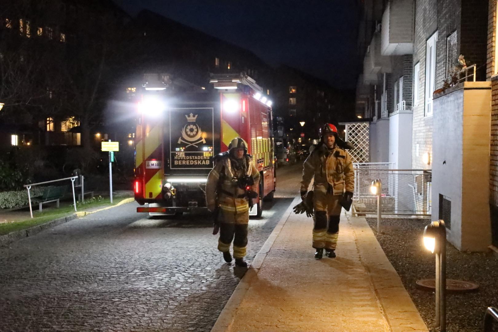Melding om brand i bygning på Nørrebro