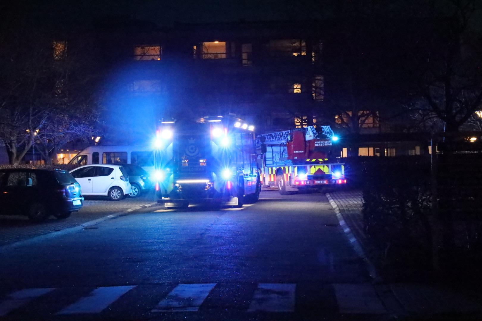 Brandalarm på kollegie i Husum