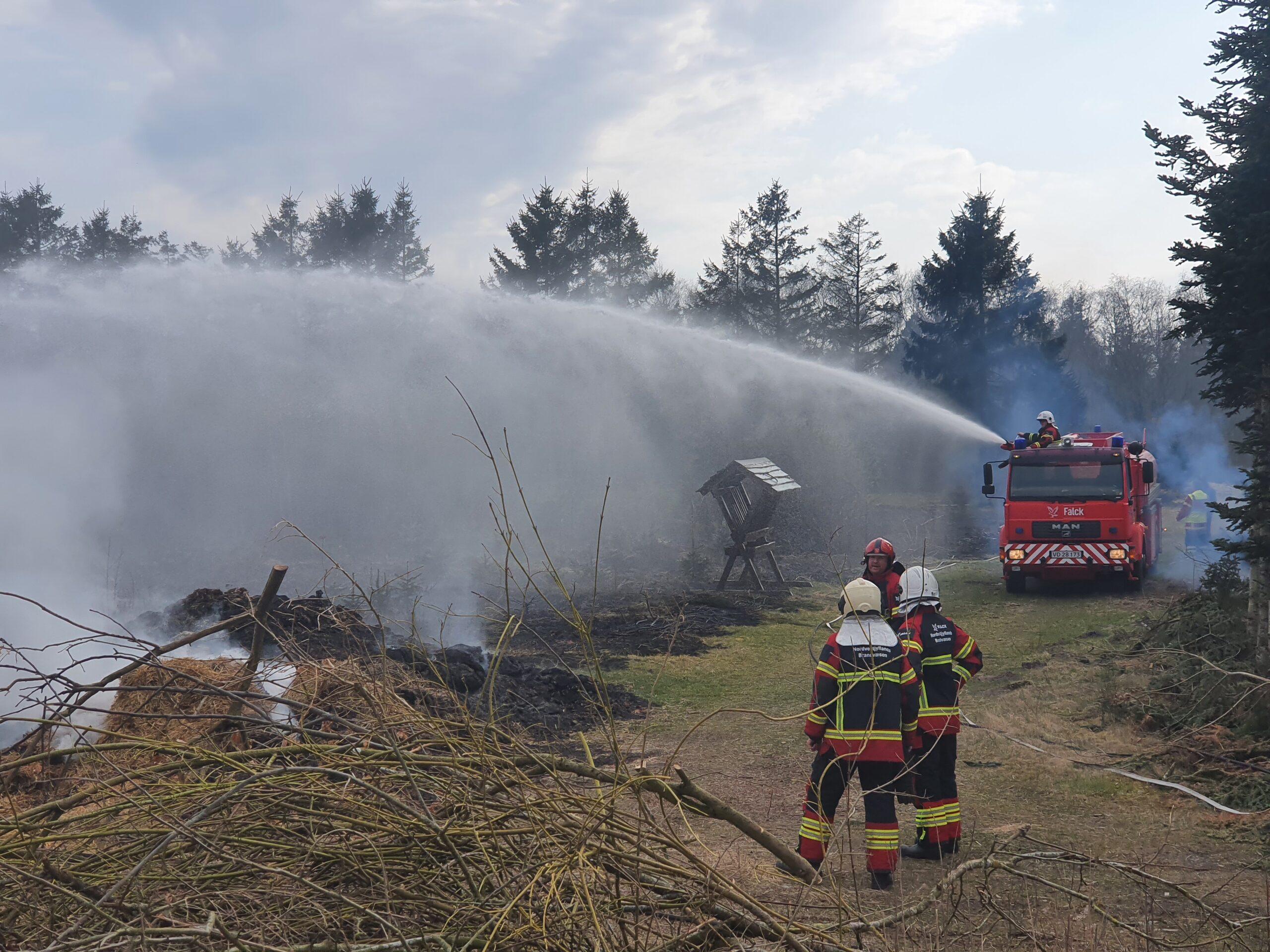 Mindre naturbrand i Vemb ved Holstebro