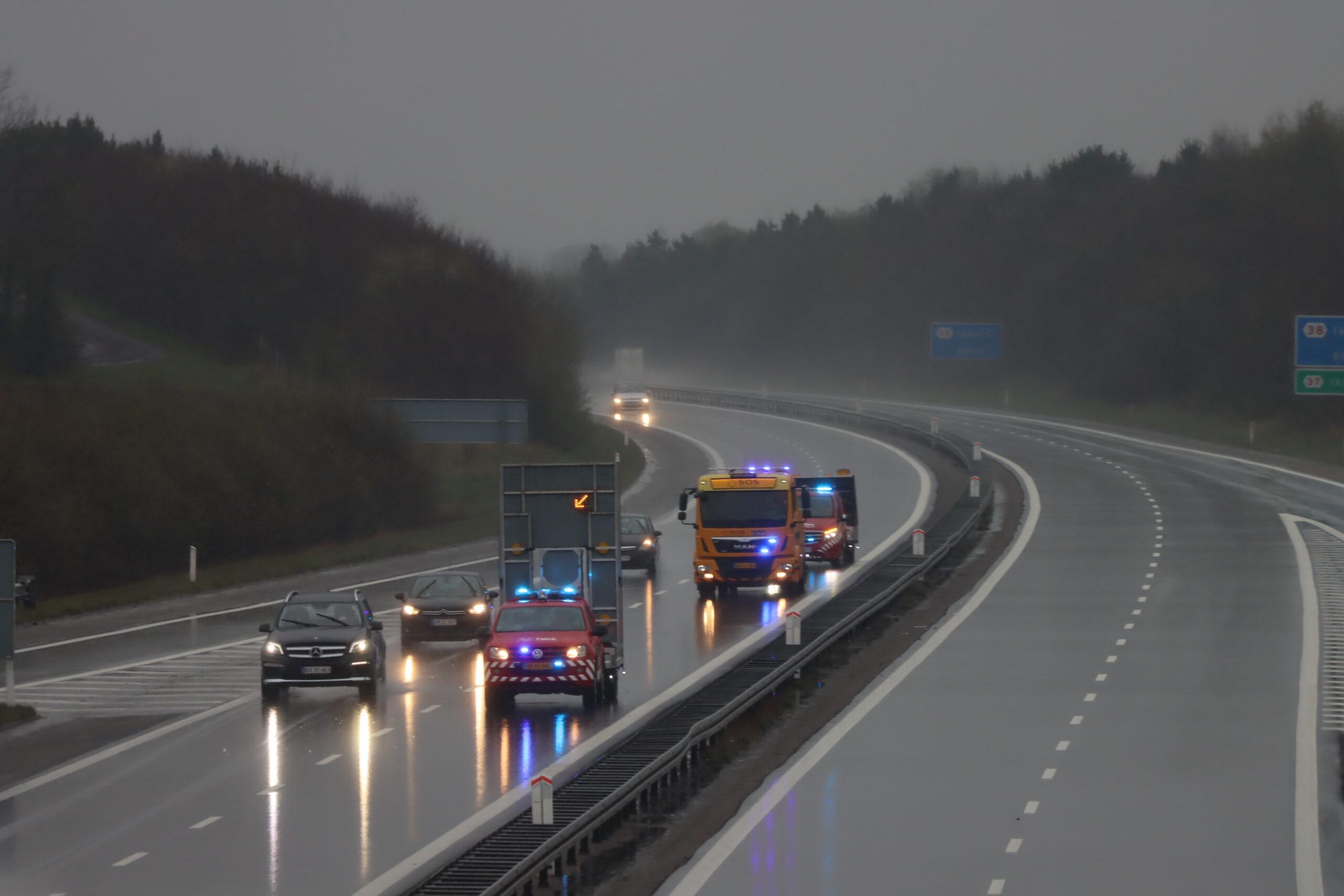 Oprydning efter uheld på Herning motorvejen