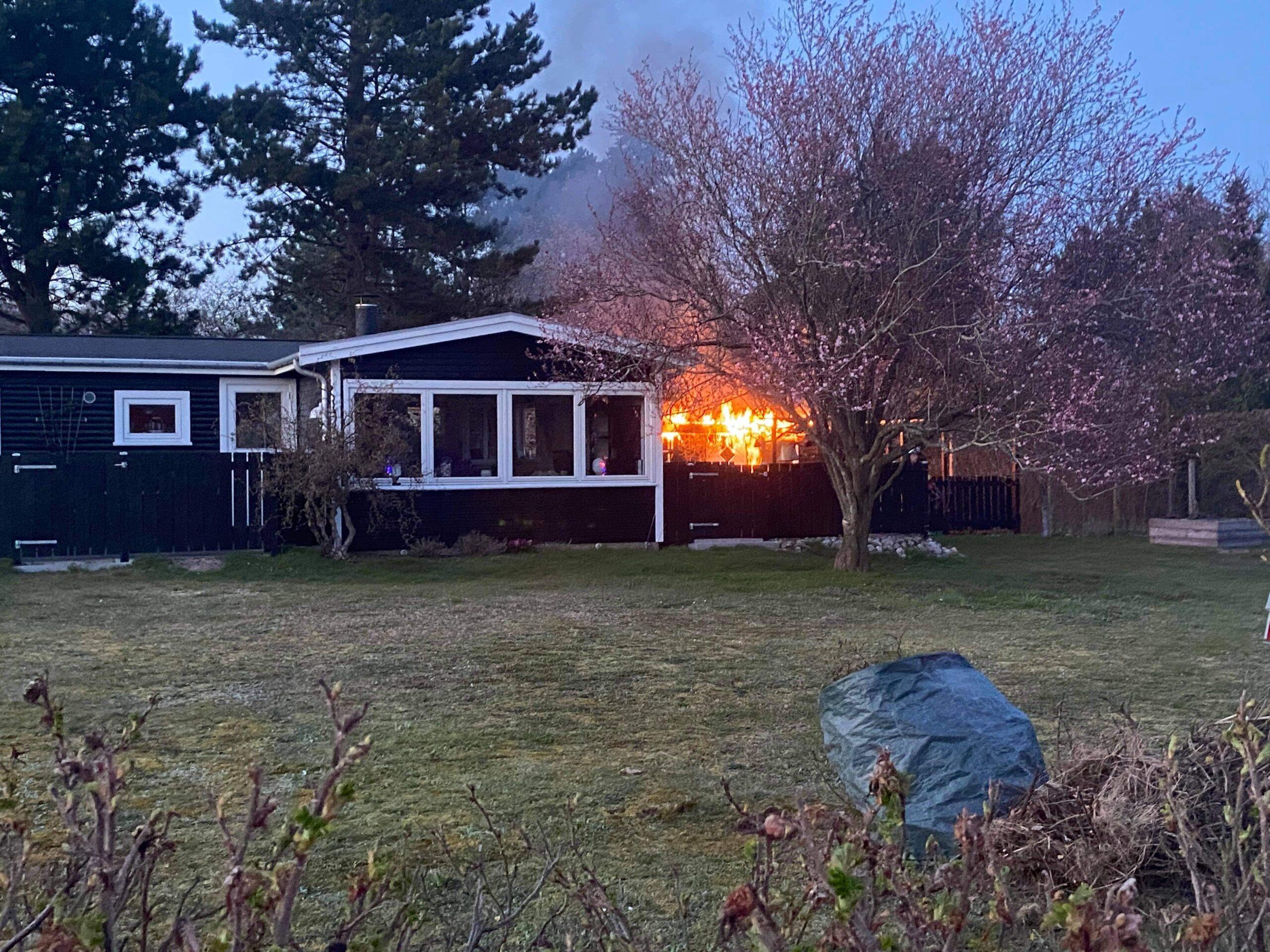 Sommerhusbrand i Nykøbing Sjælland