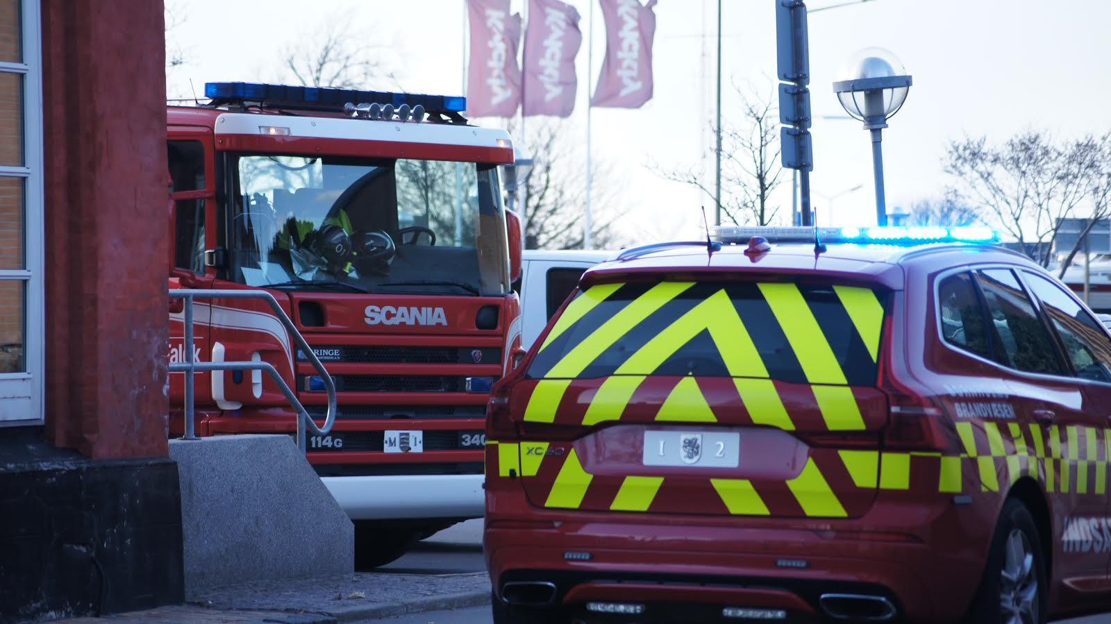Mindre brand i Snellemark i Rønne