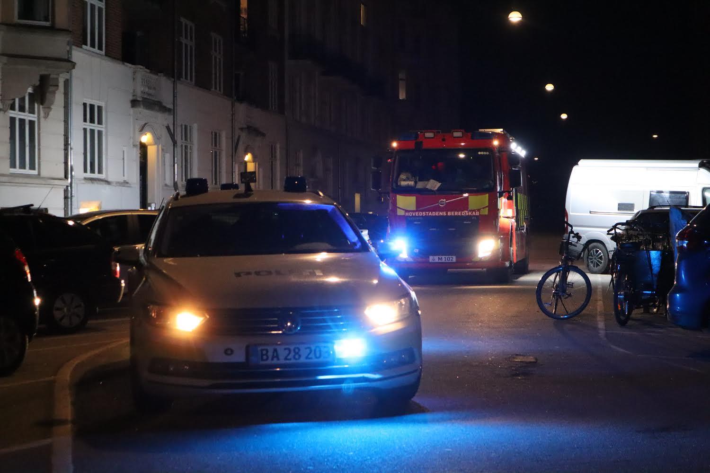 Melding om brand på Henrik Rungs Gade i København
