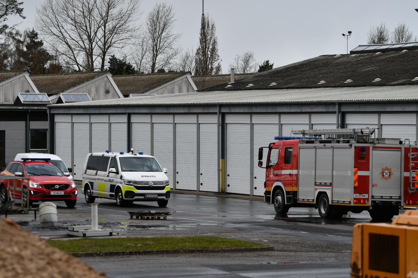 Brand i industribygning i Gelsted på Fyn
