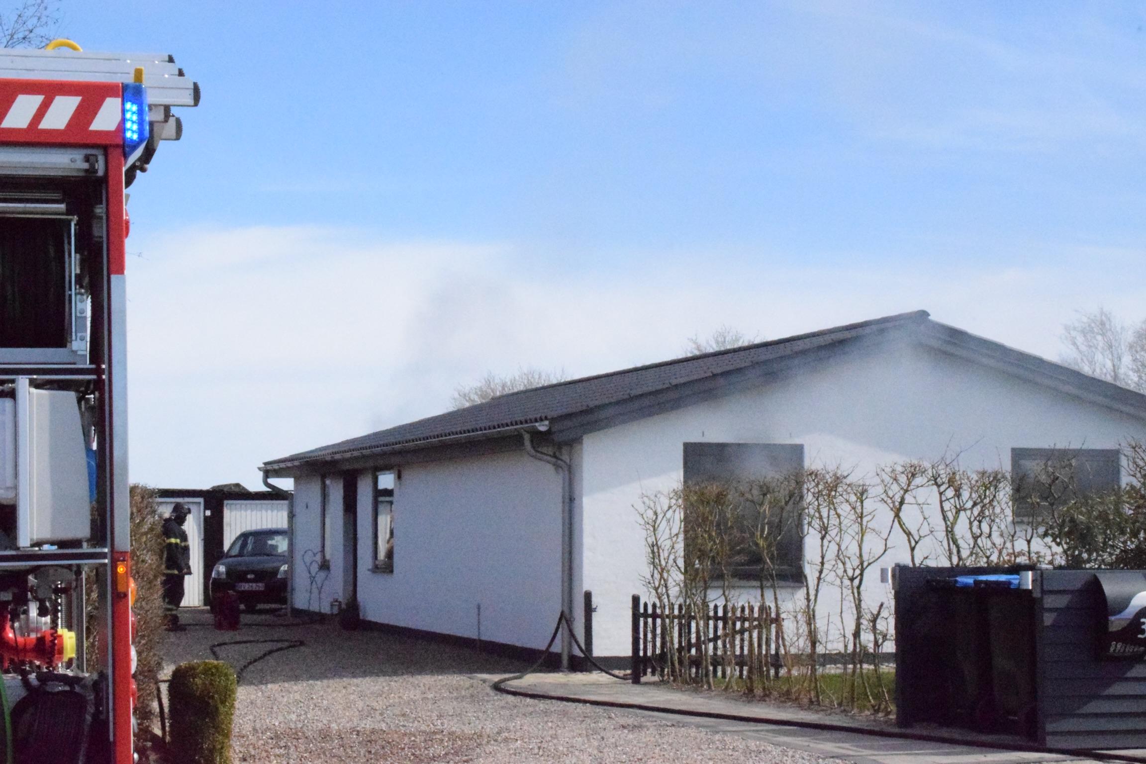 Bygningsbrand i Tønder lørdag eftermidag