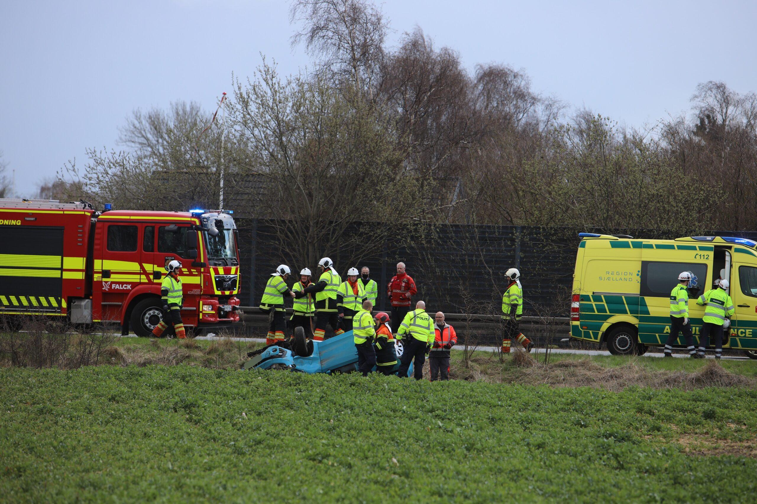 Voldsomt færdselsuheld på motorvej E20 ved Vemmelev