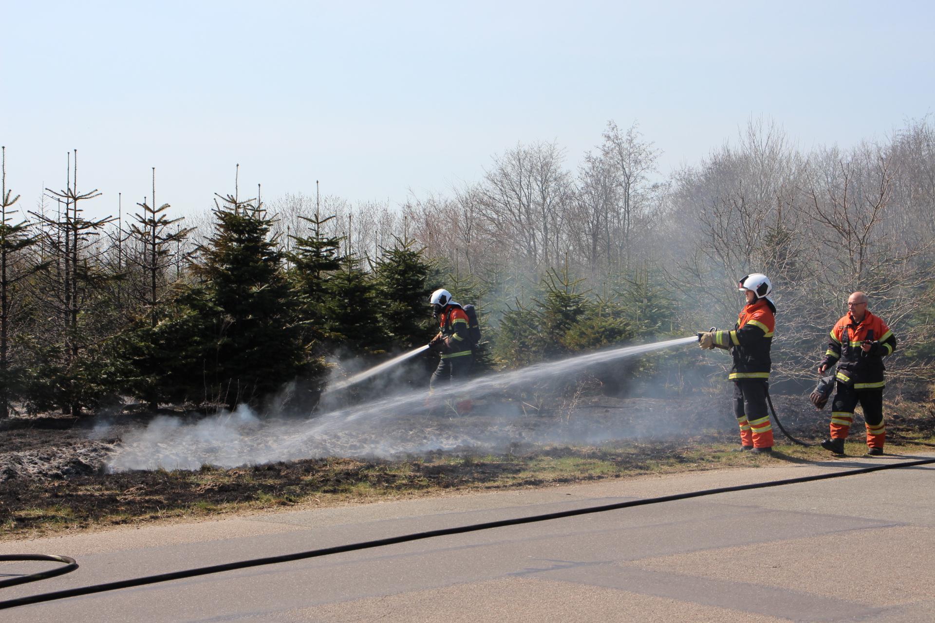 Tredje naturbrand i Skjern på få dage - mulig påsat