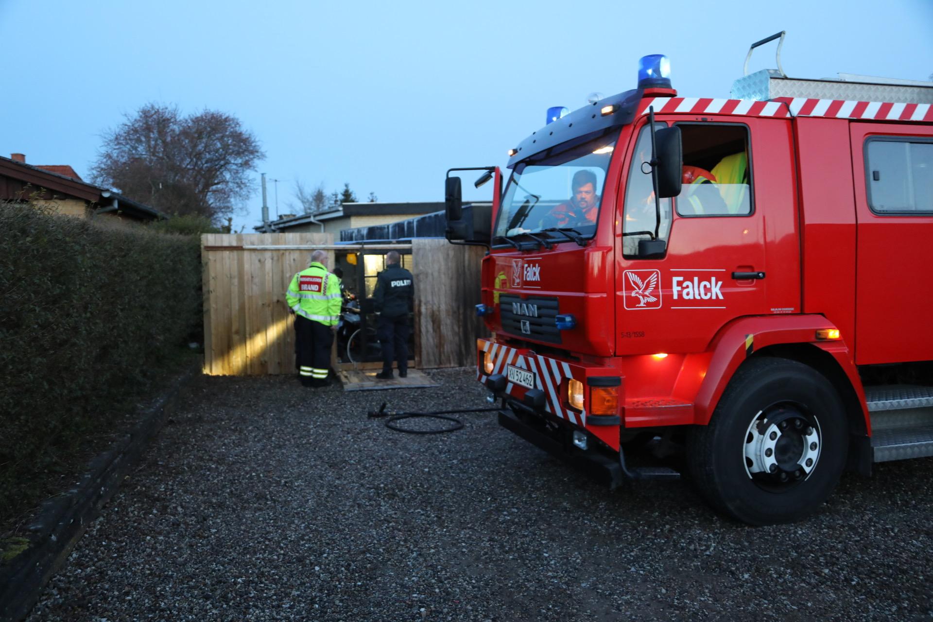 Mindre brand i Svendborg - der lugtede kraftigt af røg