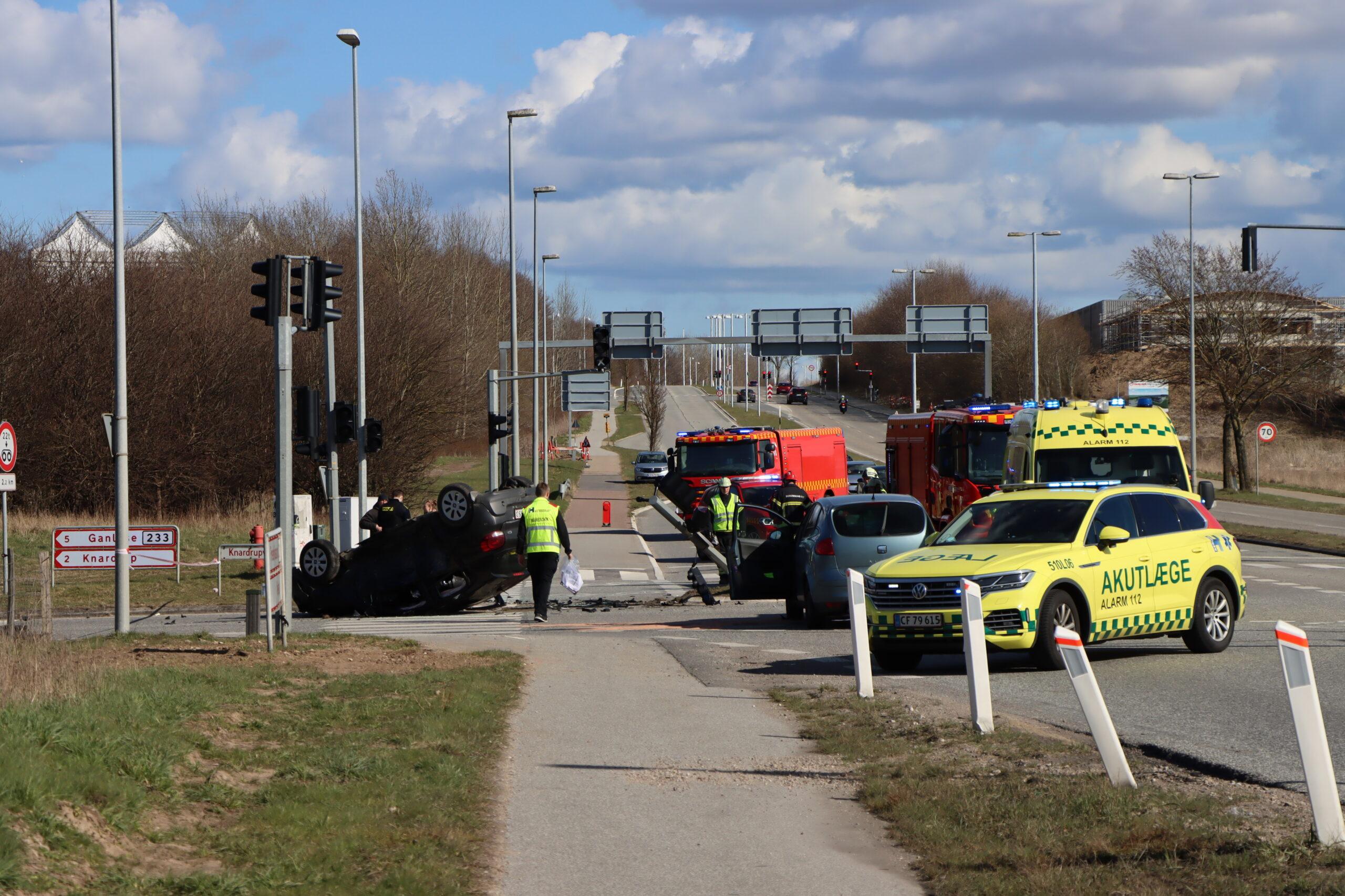Voldsomt færdselsuheld ved Måløv i Ballerup