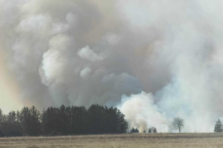 Voldsom naturbrand i Egtved - Røgen kan ses flere kilometer væk