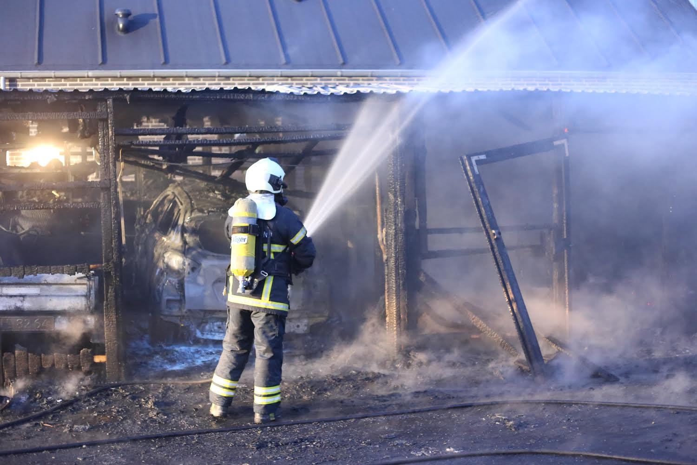 Brand i Vejle - Garage udbrændt