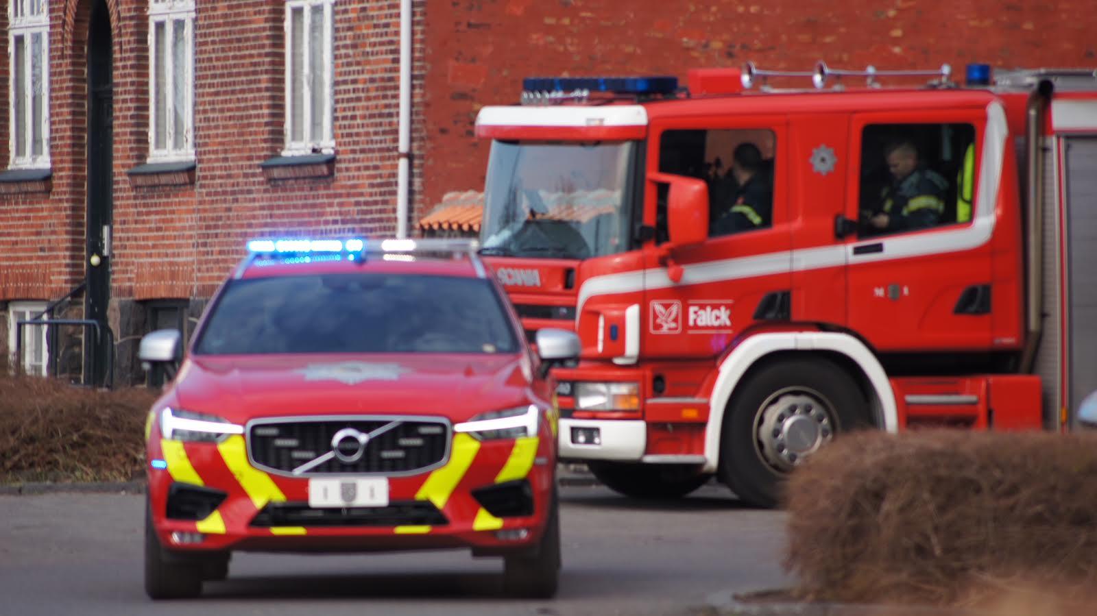 Brandalarm på Kollegium i Rønne