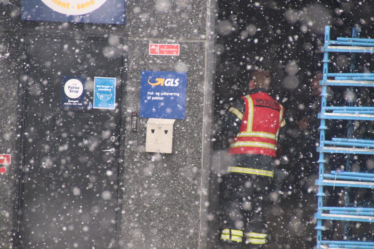 Brandalarm hos GLS i Herning