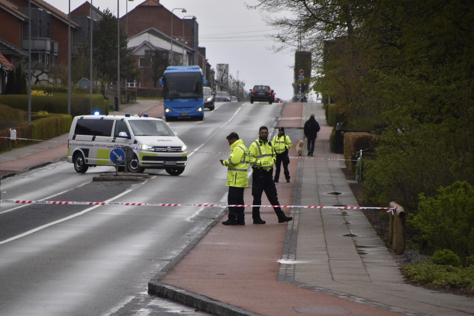 Cyklist påkørt af bil i Videbæk ved Herning