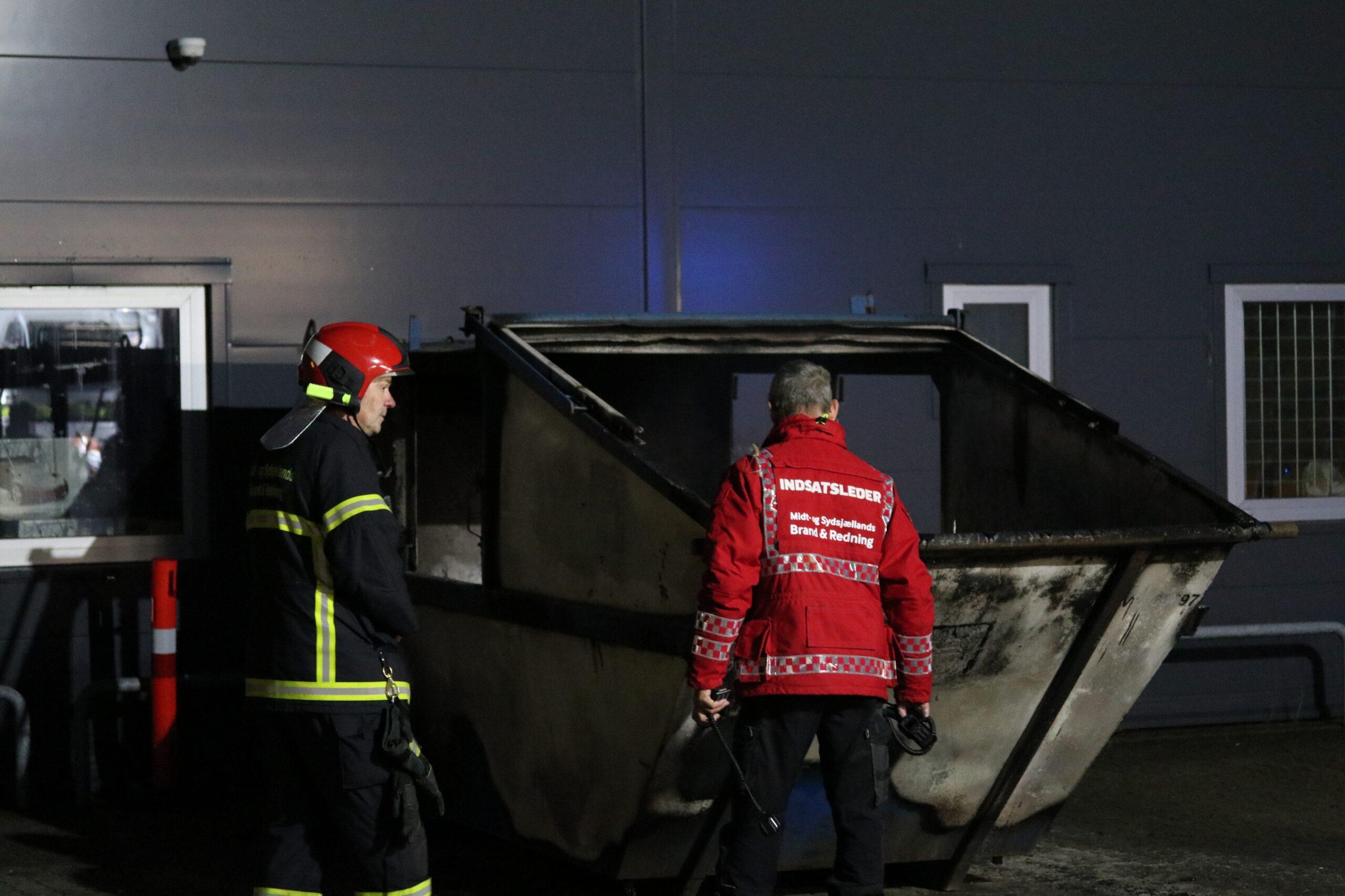 Containerbrand i Vordingborg