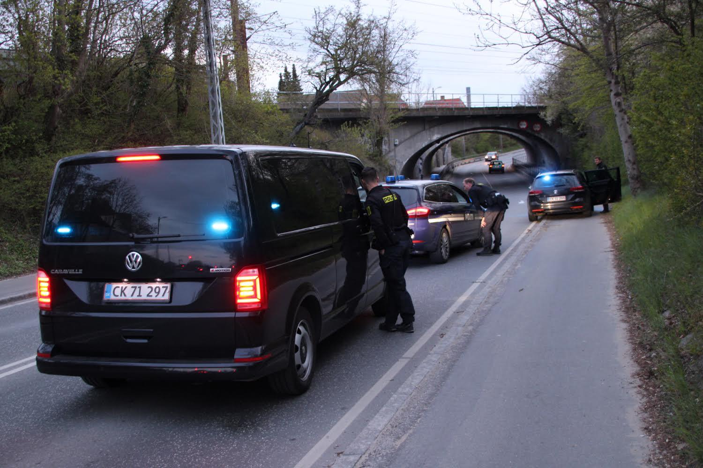 Færdselsuheld ved Hedehusene - flere personer stukket af