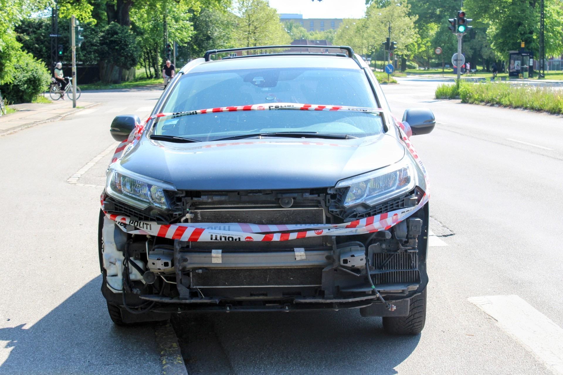 Færdselsuheld i Emdrup ved København NV