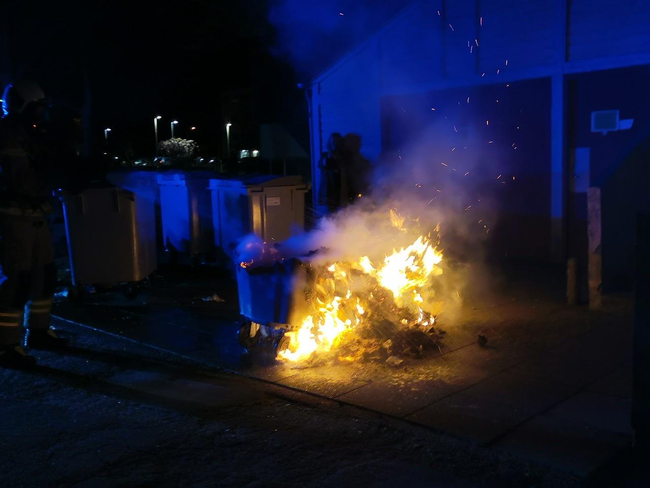 Ild i container i Brabrand
