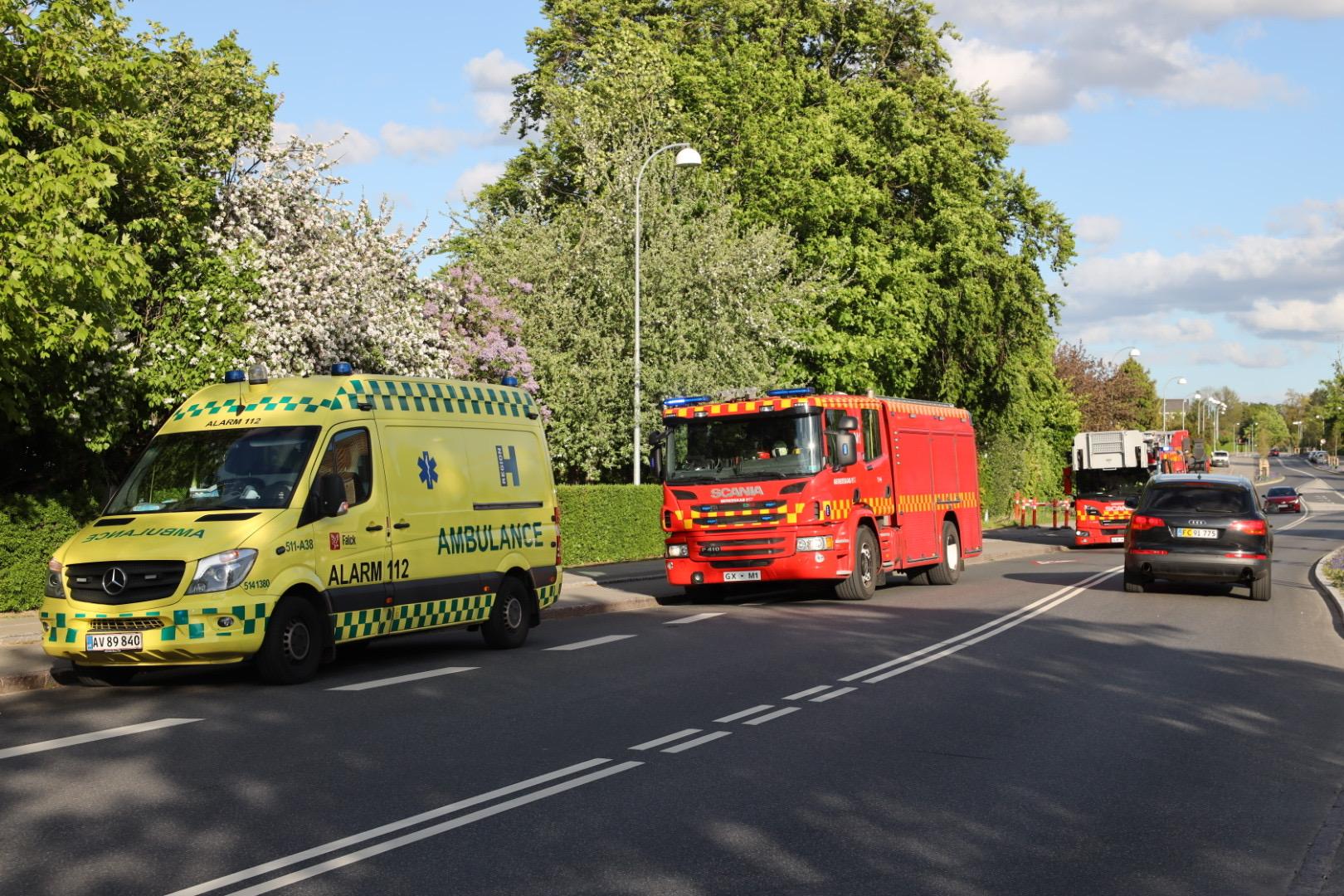 Bygningsbrand i Gladsaxe - brand og redning er på stedet