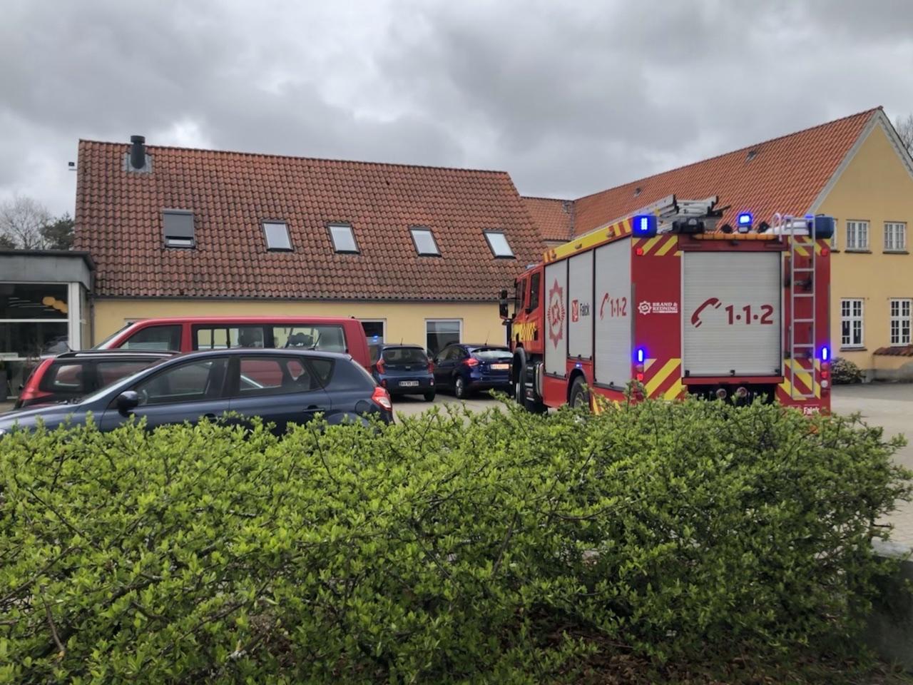 Aktiveret brandalarm i Skjern