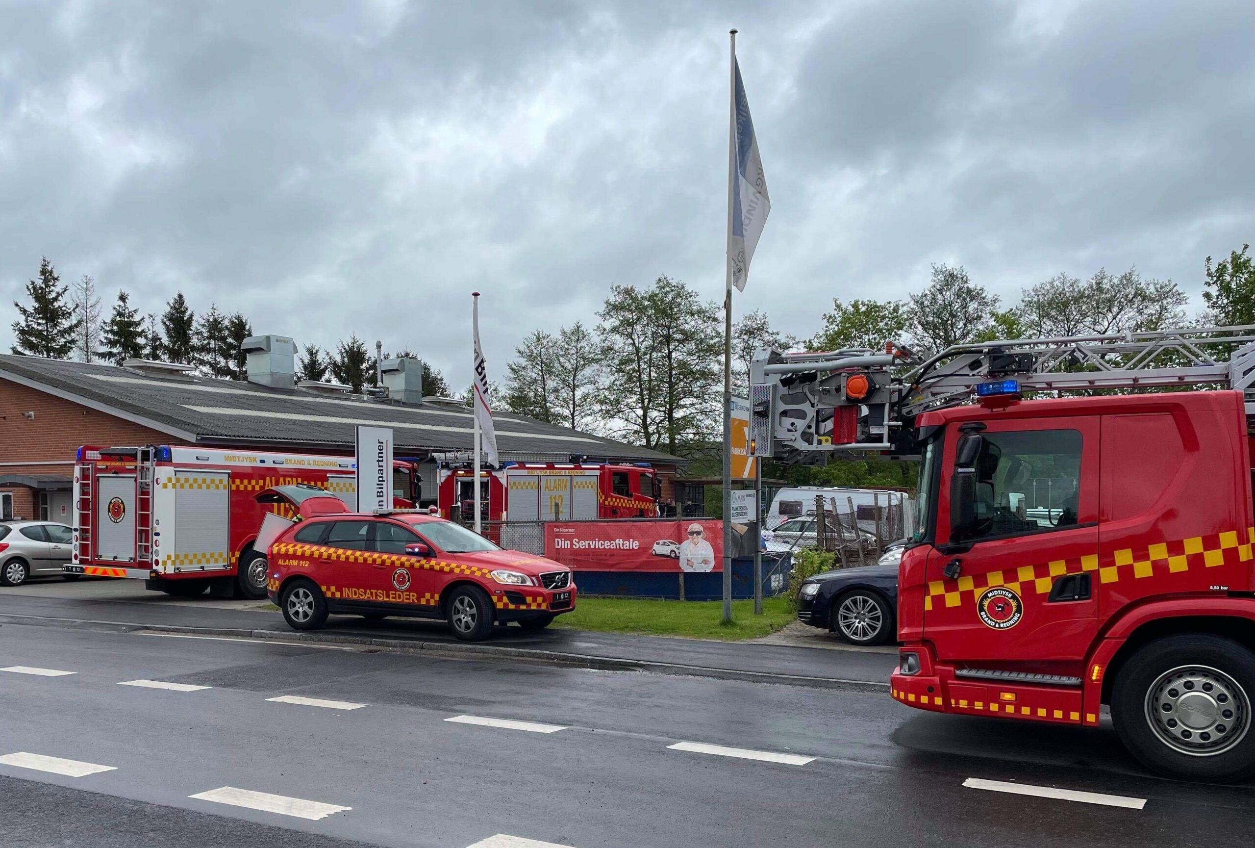 Brand i industribygning i Silkeborg