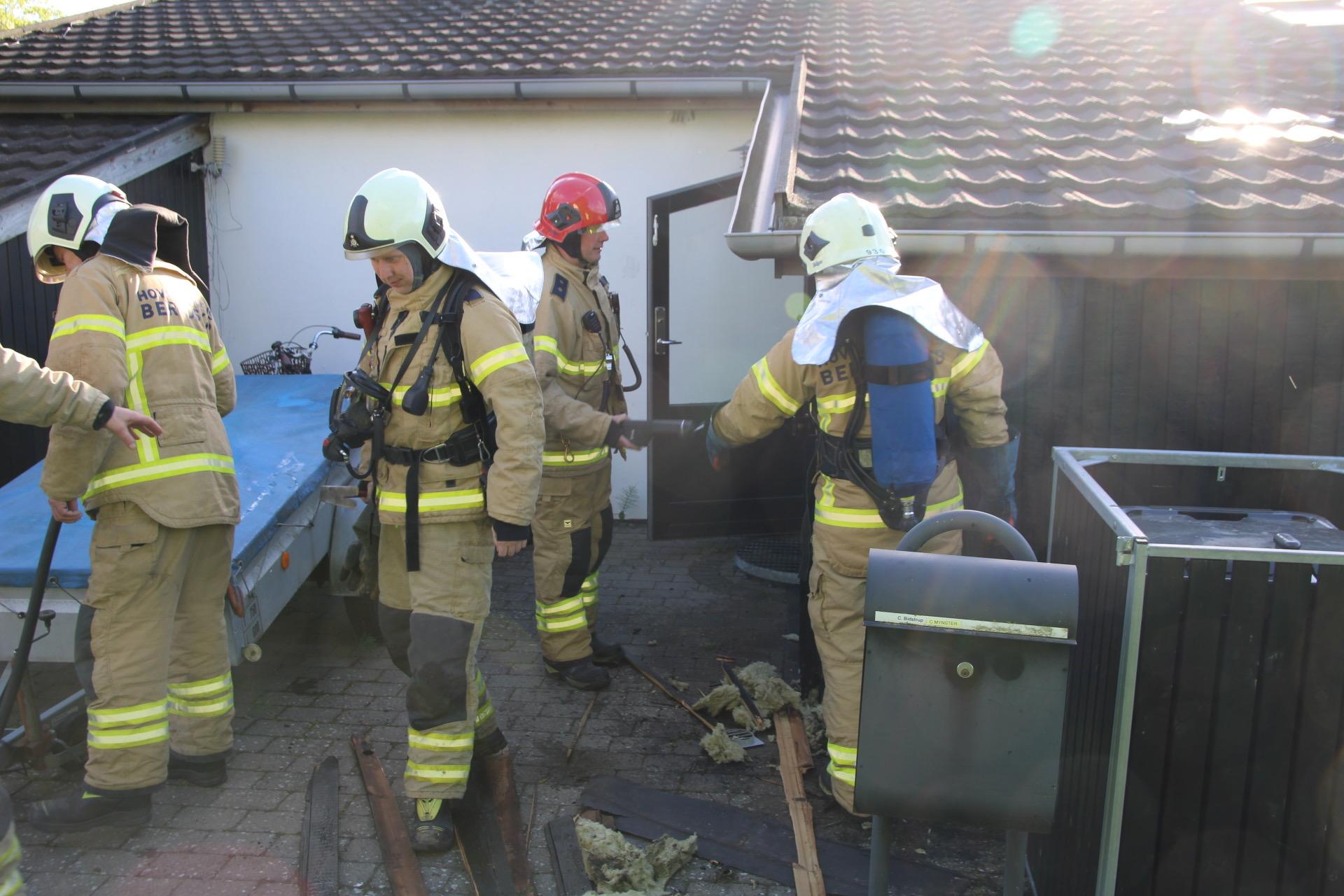 Bygningsbrand i Rødovre - Startet af ukrudtsbrænder