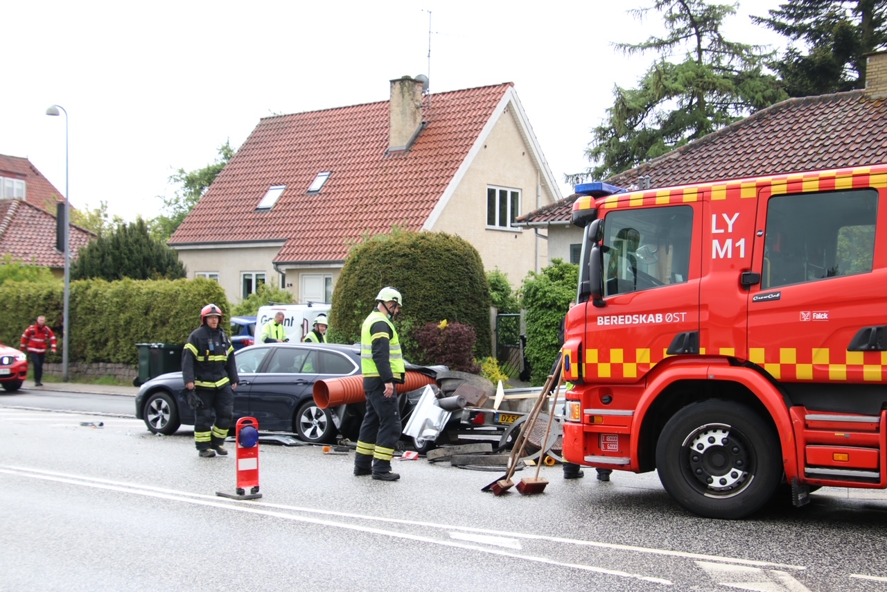 Uheld i Lyngby - beredskab fremme