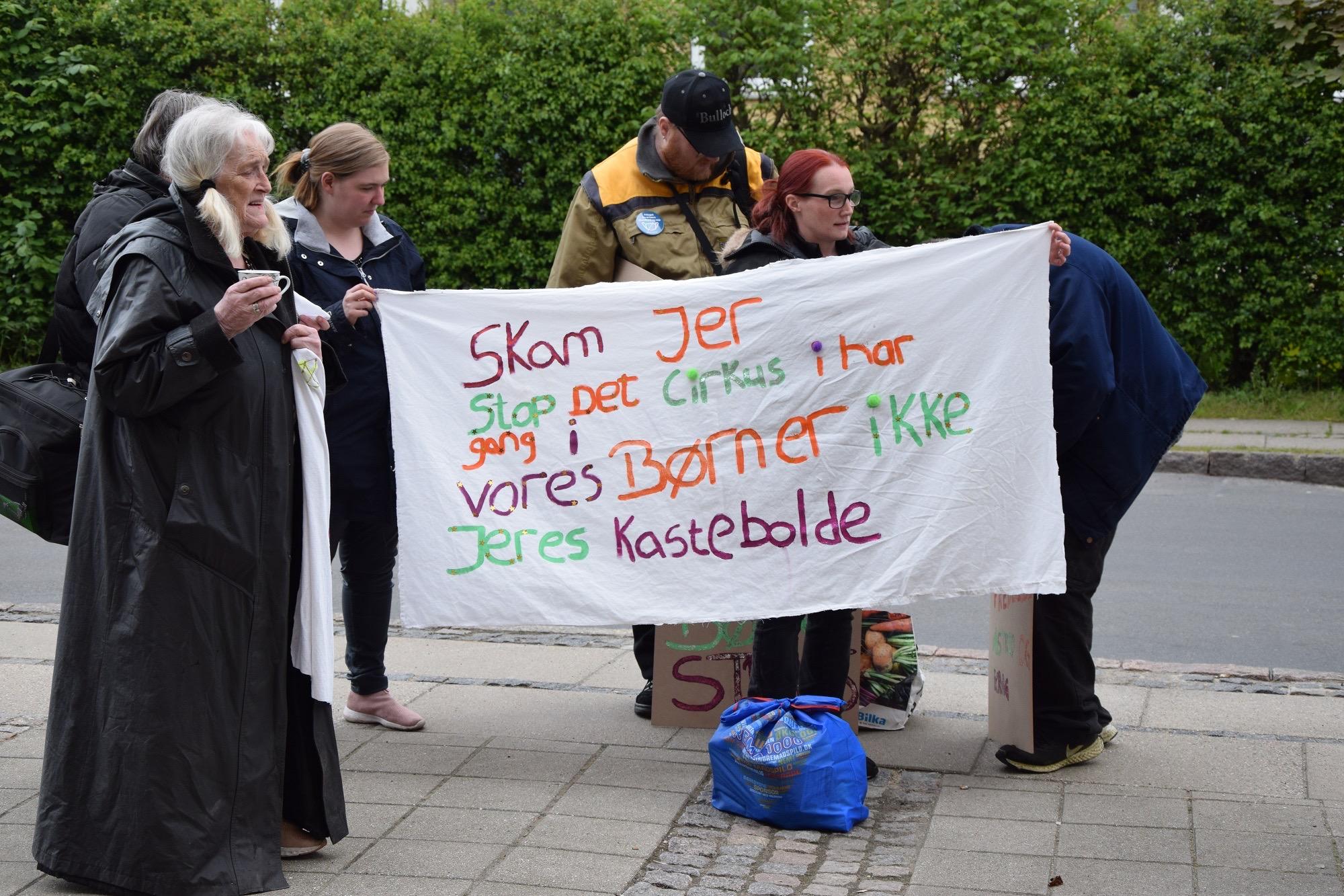 Demonstration i Rudkøbing på Langeland