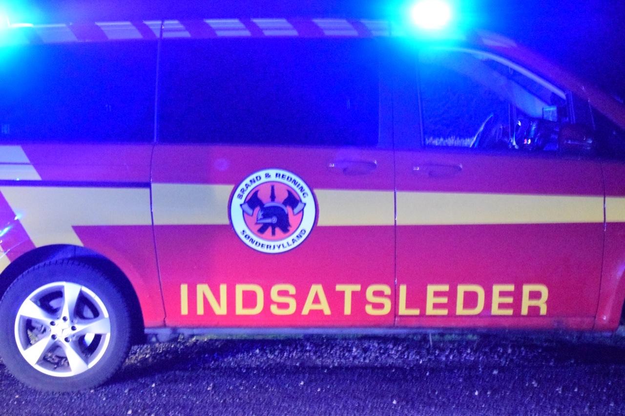 Mindre brand i bygning i Tønder
