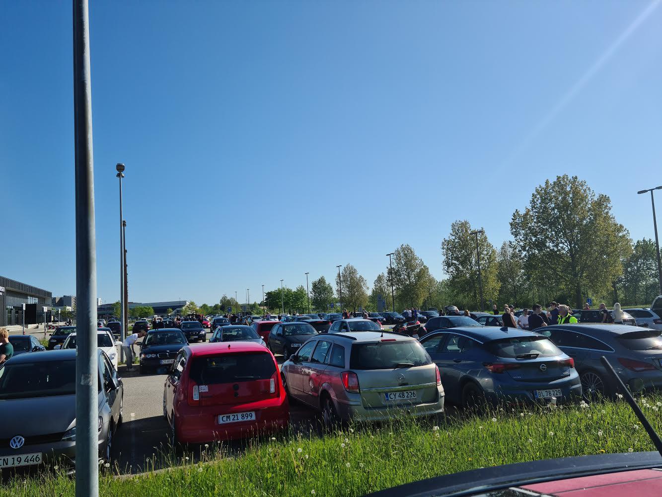 Større biltræf i Fredericia