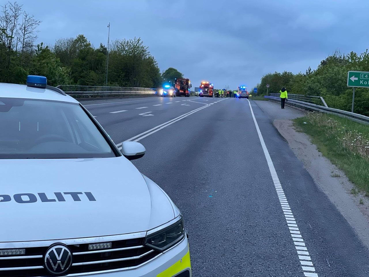 Ulykke ved Horsens spærrer vej