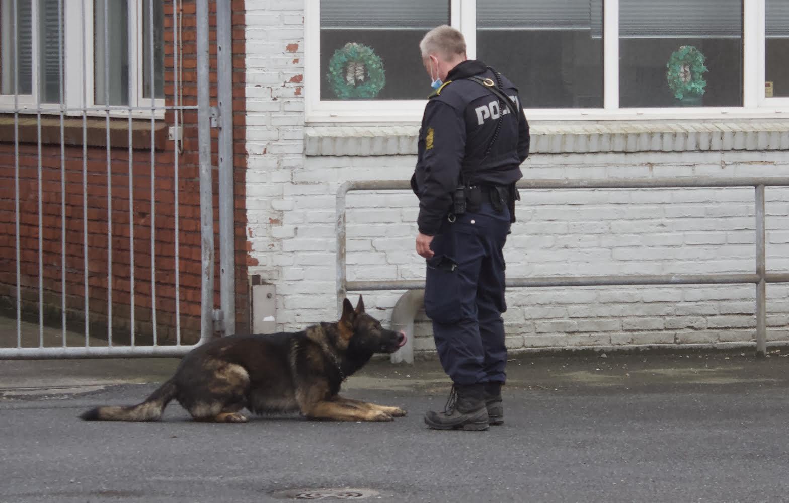 Politi øvelse på Esbjerg havn