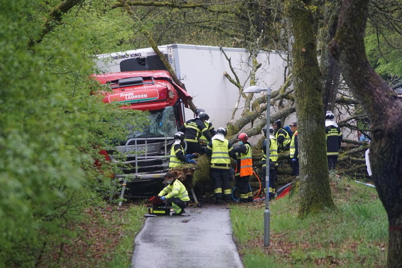 Alvorlig Lastbilulykke ved Viborg