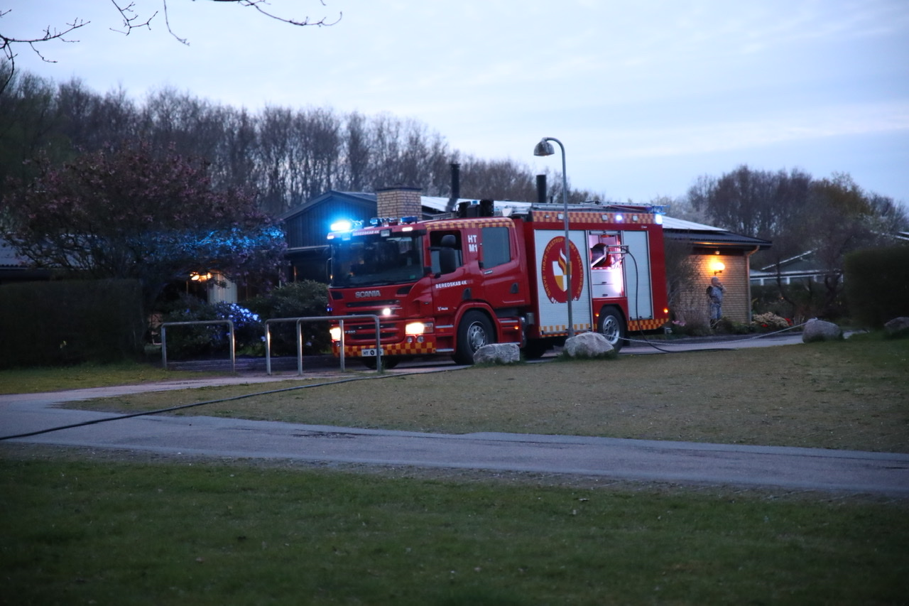 Ild i el-cykel i Vallensbæk lørdag aften