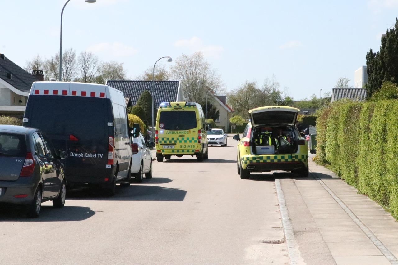 Ulykke i Brøndby - mulig fastklemt